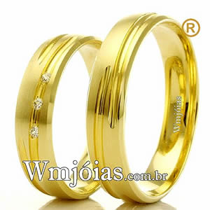 Alianças em ouro 18k noivado e casamento