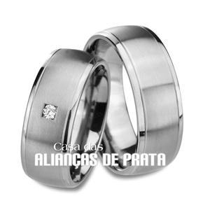 Aliança em prata