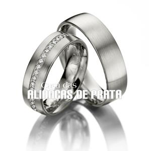 Alianças de compromisso em prata