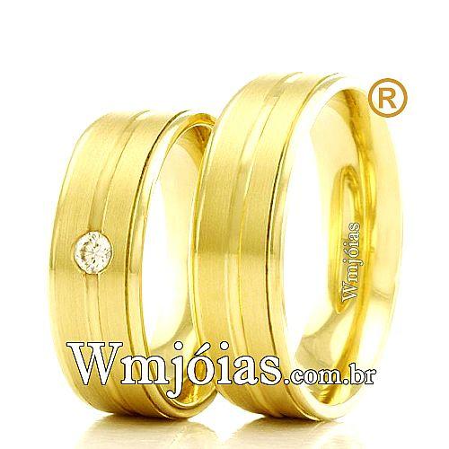 039432697355e Aliancas de casamento e noivado - WM Jóias   Catálogo de Alianças