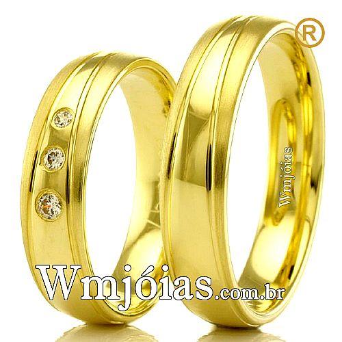 Alianças em ouro 18k para casamento