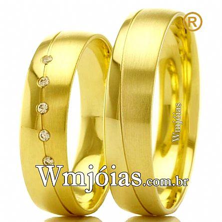 525f8ebacd38b Aliancas de ouro - WM Jóias   Catálogo de Alianças