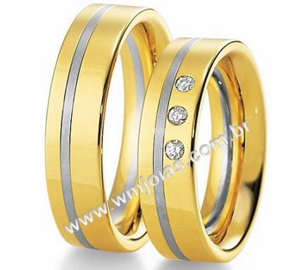 Alianca de casamento e noivado